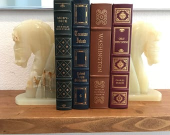 Onyx Horse Figures Bookends