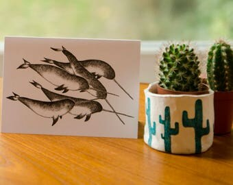 Narwhal Greeting Card