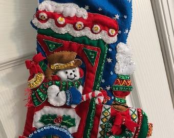 Train Christmas Stocking