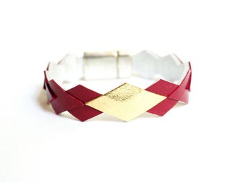 """Wamak"" genuine leather bracelet"