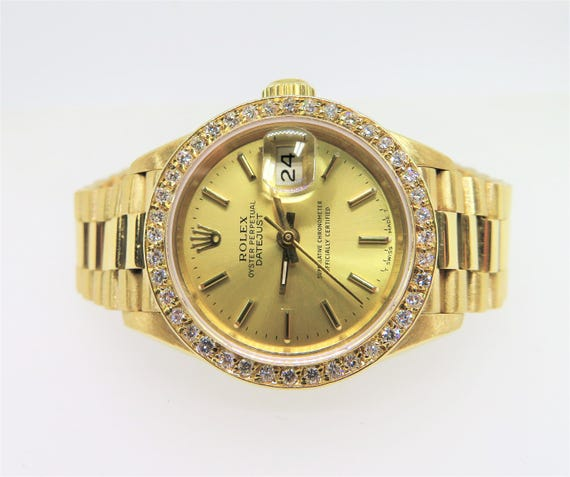 Vintage Ladies Rolex Datejust 18k YG