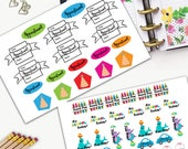 Family Calendar Stickers, All Happy Planner Stickers, Add On Set, Stickers, Printed, Cut, Functional Sticker, Any Planner, Appointment