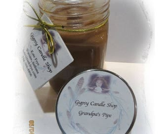 Grandpa's Pipe  Soy Candle