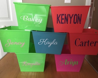 Personalized Bucket/ Monogrammed Bucket