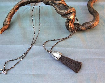 Silver Necklace (Long). Silver Jewelry. Long necklace in 925 Silver. Ethnic silver necklace. Ethnic jewelry. Silver jewelry.