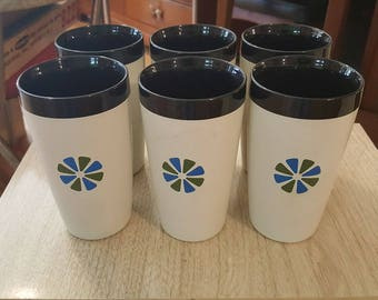 Set of 6 David Douglas Therm Ware Tumblers
