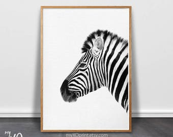 Zebra Print, Nursery Wall Decor, Safari Wall Art, Animal Print, Safari Print, Kids Room Wall Art, Baby Room Art, Large Poster, Printable Art