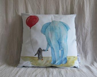 Decorative pillow printed with one of my original illustration