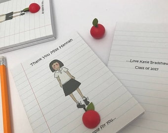 Easter Sale Personalised notebook for teacher. Teachers gift. Thank you gift for teacher. Teachers present. Best Teacher