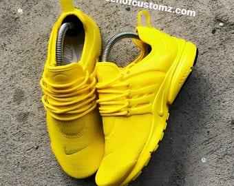 Sunshine Yellow Nike Presto custom