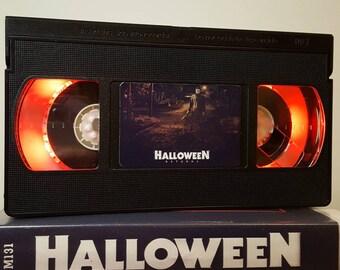Retro VHS Lamp Halloween Horror Scifi Night Light Table Lamp.