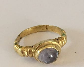 A Gold and Sapphire Ring Central Java 9 - 12th Century