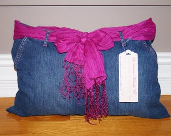 Cushion in denim (Jeans pillow)