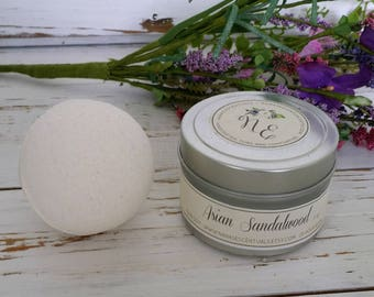 Gift Set -4 oz Soy Candle and 3.5 oz Bath Bomb- Gifts under 20- Travel Tin - Pure Soy -Aromatherapy - Spa Like Gifts-Shower Gift-Party Favor