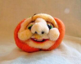 Halloween Pumpkin Ornament| Model of a Pumpkin, Pumpkin with a Face, Autumn Decoration, Friendly Pumpkin Decoration, Happy Face,