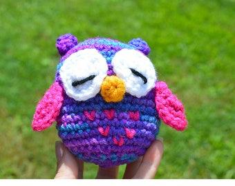 Crochet Owl, Baby Rattle