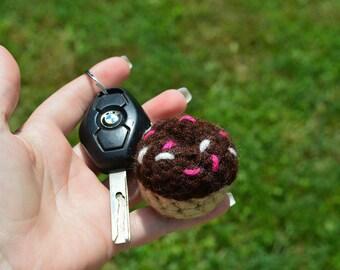 Crochet Donut Keychain, Donut Keychain, Crochet Donut