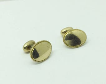 Art Deco 14k shell cufflinks #403