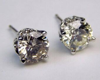 14k Gold 1.8 Ctw  diamond stud  earrings #10613