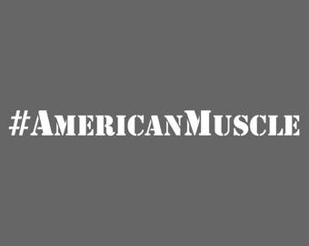American Muscle Decal