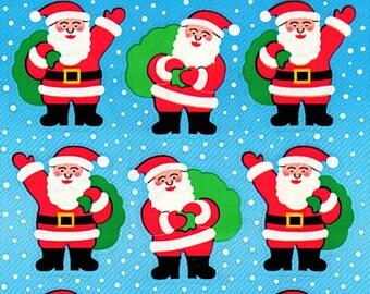 Christmas Santa Clause Sandylion Scrapbook Stickers Embellishments Cardmaking Crafts 4x6 Inch Sheet