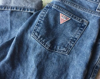 Guess Jeans 90's Medium Wash Women's High Waisted Mom Jeans Size 29