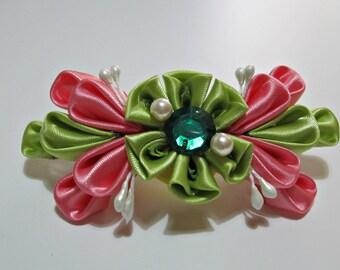 floral barrette clip
