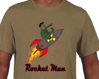 Kim Jong Un, Rocket Man, President Trump, North Korea, Nuclear Missile, Little Kim, Rocket, Man, Kim Jong, Korean Missile, American Pride