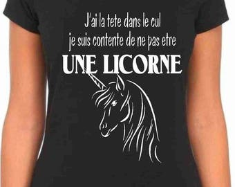 Unicorn T shirt women Humoristique