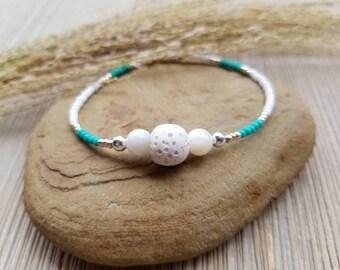 Diffuser Bracelet, Essential Oil Bracelet, Essential Oil Diffuser Bracelet, Diffuser Bracelet, Lava Stone Bracelet, Seed Bead Bracelet