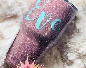 rose gold glitter tumbler / glitter dipped / glitter cup /custom tumbler / personalized cup / monogram tumbler / custom glitter