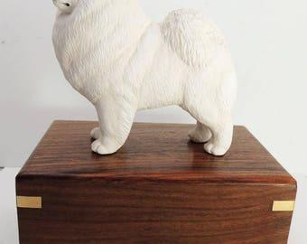 Samoyed Dog Cremation Urn