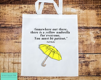 How I Met Your Mother Inspired | TV Show | Bag Gift | Yellow | Umbrella | Ted Mosby