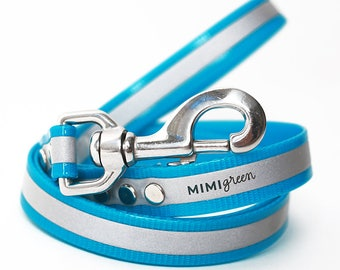 Blue Reflective Waterproof Dog Leash -- Blue Smell Resistant Dog Leash -- Blue Training Leash -- Blue Safety Dog Leash -- Long Blue Dog Lead