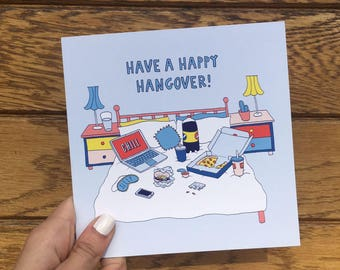 "Central 23 Funny Card ""Have A Happy Hangover!"""