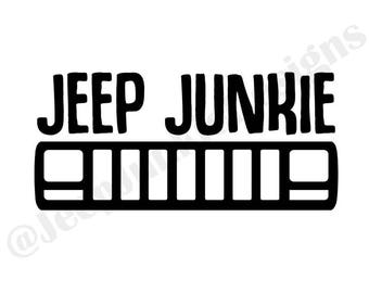 Jeep Junkie XJ Vinyl Decal