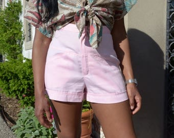 1980s High Waisted Pink Shorts, JC Penny's Shorts