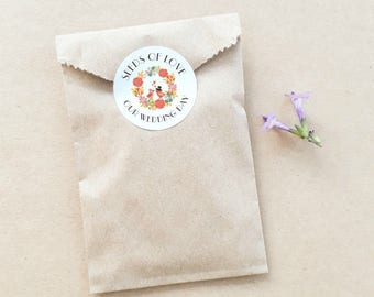 Seed Favour Bags - Personalised Favours, Custom Favours, Wedding Favours, Baby Shower Favours, Bomboniere, Bonbonniere, Party Favour x 20