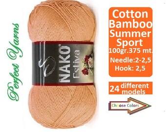 Nako estiva,  Crochet yarn, knitting yarn, bamboo yarn, cotton yarn, turkish yarn, summer yarn, nako yarn, nako, estiva, baby yarn, bamboo