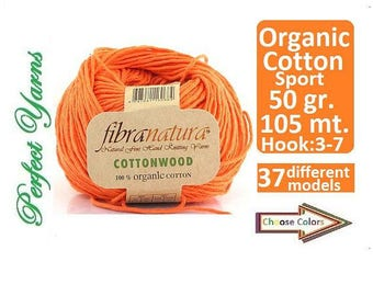Organic Cotton, Fibranatura, cottonwood Knitting Yarn, crochet yarn, baby yarn, yarn, hypoallergenic yarn, cotton yarn,