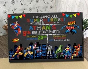 Superhero Invitation, Superhero Birthday Invitation, Superhero, Superhero Birthday, Superhero Birthday Party, Super hero Invitation
