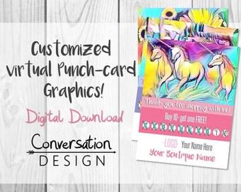Direct Sales, Virtual, Punch Cards, Graphics, Customer Rewards, Boutique, VIP Group, Rainbow, Reward Card