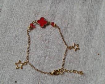 """""""Golden and red wedding"""" bracelet"""