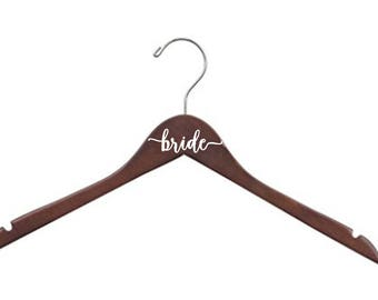 7 Personalized Hangers - bride - bridesmaid - wedding