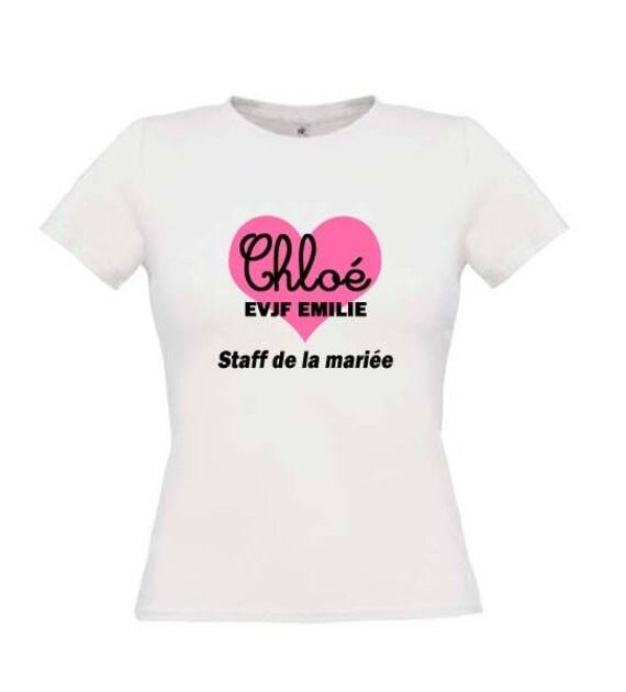 Gut gemocht t-shirt evjf personnalisé enterrement de vie de jeune fille FY26