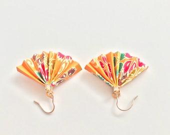 Orange Eventail Earring