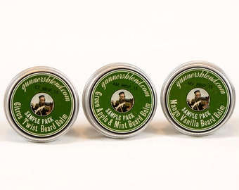 Gunners Blend Fruit Scents Beard Balm 3 x 10ml Sample Kit