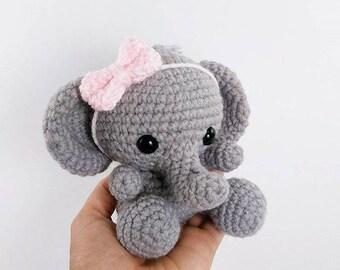 Crochet elephant amigurumi elephant stuffed toy animal