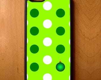 Holiday Ornament Polka Dot Phone Case Cover Samsung Galaxy S6 S7 S8 Note Edge Apple iPhone 4 5 5S 5C 6 6S 7 SE Plus + LG G3 skin snap rubber