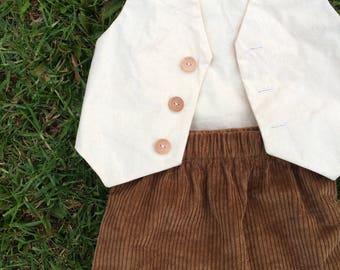 AGNES SET// natural cotton and corduroy